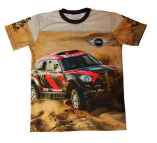 Mini Cooper ALL4 Racing Dakar Rally Car Sided All Over Sublimation Print T-Shirt