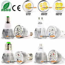 9W 12W 15W MR16/GU10/E27/E14 Cree LED Spot Light Warm Cool White Bulb Lamp TEC