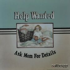 "LS710 Vintage Help Wanted Linda Spivey  10""x10"" framed or unframed print art"