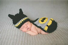 KID Boy Newborn infant Knit Crochet Batman Photo Prop photograp Costume cloth