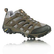 Merrell Mens Moab Ventilator Brown Leather Outdoor Walking Hiking Boots Shoes