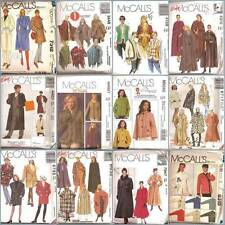 McCalls Sewing Pattern Misses Coats Jackets Capes McCall's Winter Outerwear UPIK