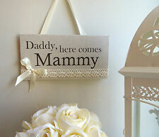 """Rustic Vintage Lace Wedding Sign """"Here Comes the Bride"""", Flower Girl sign/plaque"""