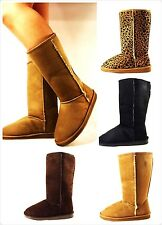 New Womens Comfort Faux Suede Mid Calf Fashion Winter Warm Snow Boots Shoes