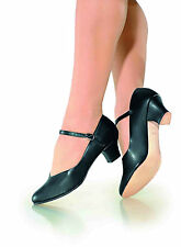 "NEW! SO DANCA 1.5"" CHARACTER SHOES. LEATHER SOLE. BLACK, TAN, & WHITE! (xCH50)"