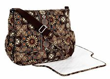 NEW Vera Bradley Messenger Baby Travel Diaper Bag Changing Pad $118 Canyon Brown