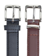 Mens Leather Belt Black Or Brown 4 Sizes Brand New