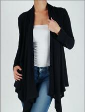 BLACK Cardigan Sweater Drape Wrap Top Jacket, Plus Size 4X 5X 6X
