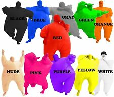 Adult Chub Suit Inflatable Blow Up Full Body Cosplay Costume Jumpsuit One-Piece