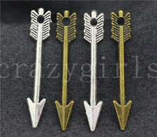 New 30pcs Antique Silver/Bronze Lovely Mini two-sided Arrow Charm Pendant 30x5mm