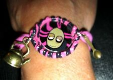 NEW SALAD FINGERS BOTTLE CAP WITH SPOON & KETTLE CHARMS ON NYLON BRACELET