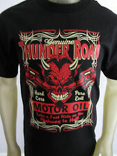 Devil Highway to Hell Car oil Thunder Road tee shirt men's black choose a size