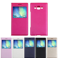 Luxury View Window Flip Leather Skin Case Cover for Samsung Galaxy A5