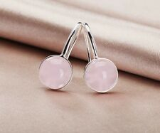 Amazing 925 Sterling Silver Stone Round Earrings For Women Valentines Gift E005