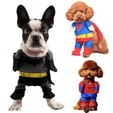 Batman/Spiderman Dog Clothes For Pets Cat Costume Outfit Shawl Fancy Dress