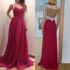 Women Bridesmaid Ball Prom Gown Formal Evening Party Cocktail Long Dress #3YE