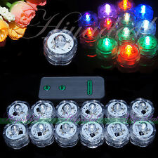 New SUBMERSIBLE BATTERY OPERATED LED TEA LIGHTS FLORAL VASE WATERPROOF WEDDING A