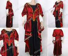 Pirates of the Caribbean Cosplay Elizabeth Costume Red Lace Dress Beautiful New