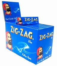 1 10 25 50 100 ZIG ZAG BLUE GENUINE SMOKING CIGARETTE ROLLING PAPERS BOOKLETS