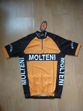 MOLTEN RETRO CYCLING TEAM BIKE JERSEY - EDDY MERCKX (Black/Orange)