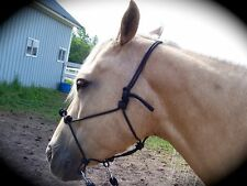 BITLESS RIDING HALTER ~Bridle/Hackamore/Side Pull~Stiff Rope w/ EXTRA Knots!!
