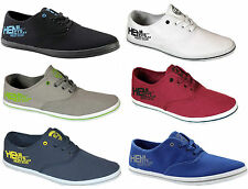 Mens New HENLEYS Lace up Canvas Shoes Pumps Plimsolls Trainers Sneakers