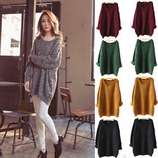 2015 Women Oversized Knitted Sweater Batwing Sleeve Tops Cardigan Loose Outwear