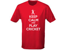 Keep Calm Play Cricket Mens Funny T-Shirt (12 Colours)