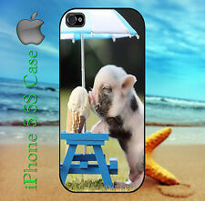 Baby Pig Ice Cream Funny Pictorial Case for iPhone