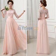 Women Bridesmaid Ball Prom Gown Formal Evening Party Cocktail Long Maxi Dress