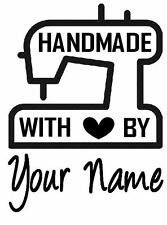 Personalised Stamp 'Sewing Machine' Crafts, Business, Mounted Polymer Custom