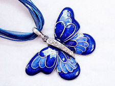 New Fashion Girl/Lady Butterfly Charm Pendant Necklace With Chain Rhinestone HOT