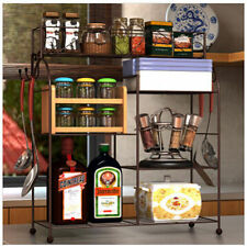 New Home Furniture Reinforced Metal Kitchen Storage Rack with Shelves Organizer