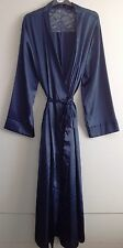 WOMEN'S SATIN WITH LACE DRESSING GOWN/ROBE UK SIZES 10/12, 14/16, 18/20