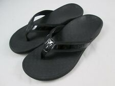 Vionic by Orthaheel Tide II Black Leather & Mesh Thong SandalsPREOWNED