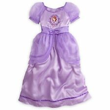 Disney Store Sofia the First SZ ALL Nightgown Deluxe Royal Satin Gown NEW