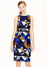 $298 J CREW Collection wool-silk dress in Cubist Print