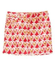 GYMBOREE PLAY BY HEART PINK w/ HEARTS TWILL PIGMENT DYE SKIRT 4 7 8 NWT