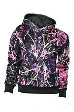 Muddy Girls Womens Black Camo Sweatshirt Hoodie Pink and Purple Camo MGPOC