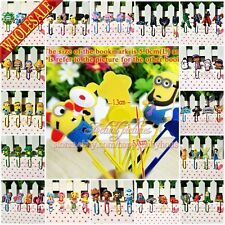 4PCS Despicable Me/Minions/Pony/Inside Out/Naruto Cartoon Bookmarks,Paper Clips