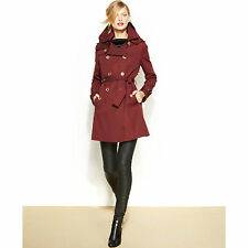 MICHAEL KORS COAT NEW WITH TAG FREE SHIPPING IN USA COLOR: BLACK/BURGUNDY/BLUE