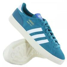 New Adidas Originals Basket Profi Lo teal green suede basketball sports trainers