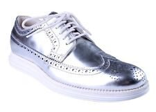 Cole Haan Men's Silver LunarGrand Long Wing Patent Leather Oxford Shoes