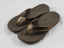 Vionic by Orthaheel Tide Bronze Sequins Orthotic Thong Sandals PREOWNED