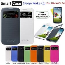 Flip Slim S-VIEW Smart Case Battery Cover For Samsung GALAXY S4 SIV i9500