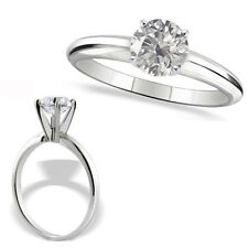 0.75 Carat G-H SI3-I1 Round Diamond 14K White Gold Solitaire Engagement Ring
