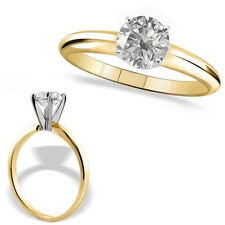0.5 Carat G-H SI3-I1 Round Diamond 14K Yellow Gold Solitaire Engagement Ring