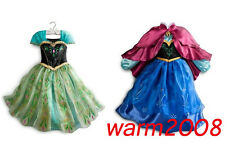 FROZEN ANNA ELSA PRINCESS DISNEY KIDS COSTUME PARTY FANCY GIFT DRESS