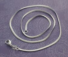 2mm FLAT Snake Chain Necklace 925 Sterling Silver 16 18 20 22 24 26 28 30 inch