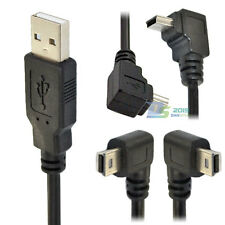 USB 2.0 A male to Mini B 5 pin right/Left/up/down angle male cable adapter cord